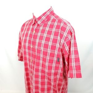Woolrich Shirts - Woolrich Mens Button Front Shirt Large S/S Plaid